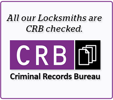 All our Locksmiths are CRB cheked.