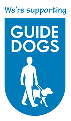 We sponsor Guide Dogs for the Blind