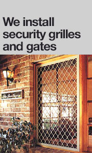 We install security gates and security grilles